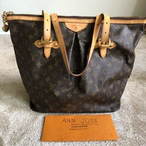 Authentic preowned lv Palermo GM